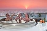 Relaxing at the pool on Liveaboard Belize Aggressor III