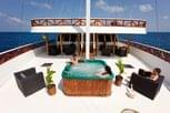 Relaxing at the jacuzzi on Liveaboard Nautilus Two